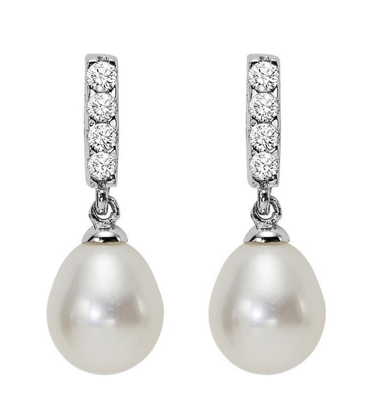 Silver Fresh Water Pearls Earrings