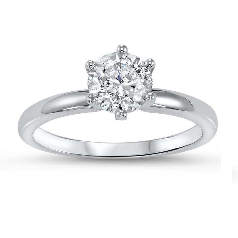 14K Diamond Solitaire Ring 1/2 ct
