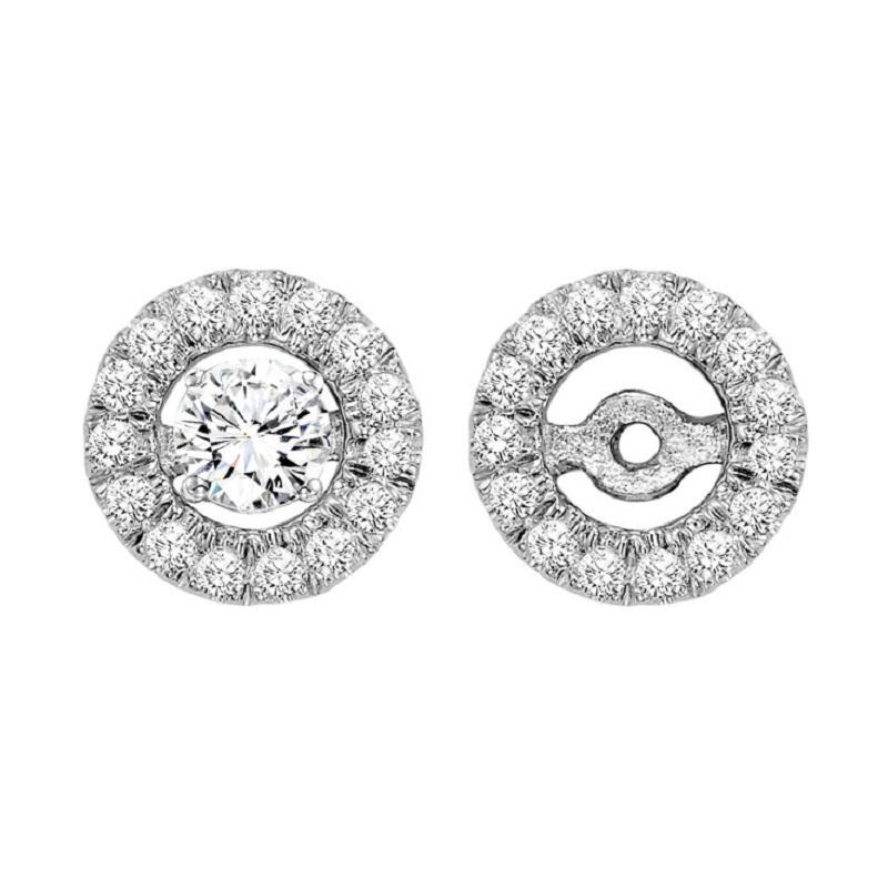 14K Diamond Earrings Round Jacket 1/7 ctw (for 1/4 ctw Studs)
