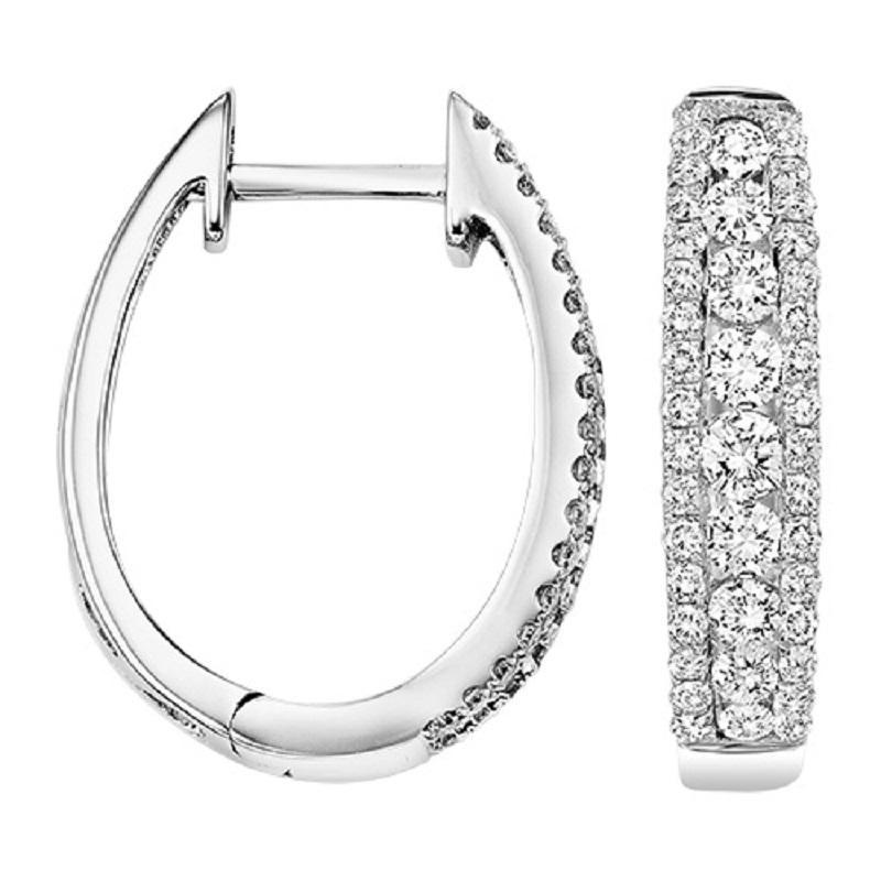 14K Diamond Earrings 1 ctw