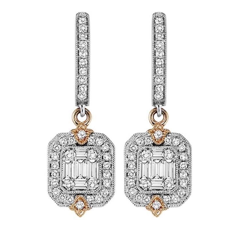 14K Diamond Earrings 3/4 ctw