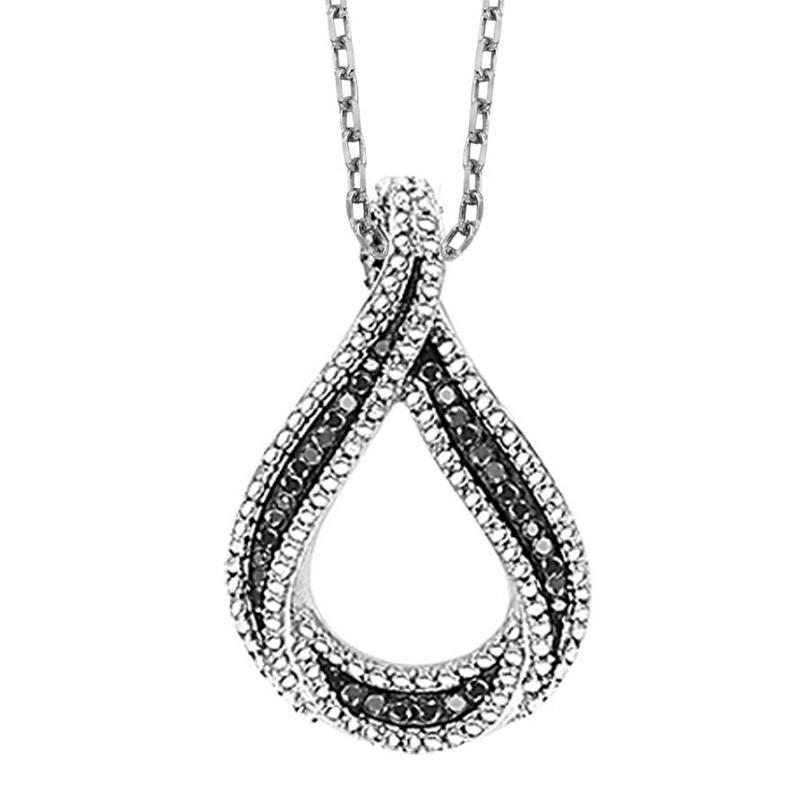 Silver Black Diamond Pendant