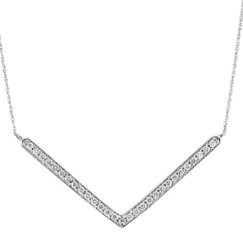 Silver Diamond Pendant 1/4 ctw