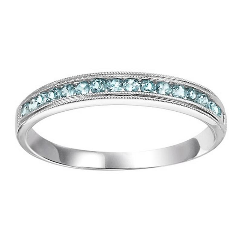 14K Blue Topaz Mixable Ring