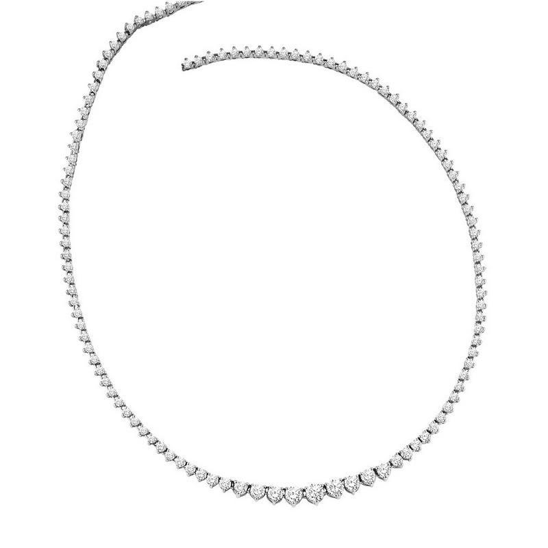 14K Diamond Necklace 10 ctw