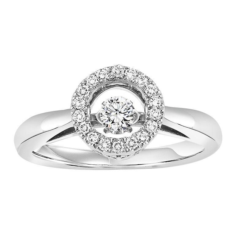 10K Diamond Rhythm Of Love Ring 1/4 ctw