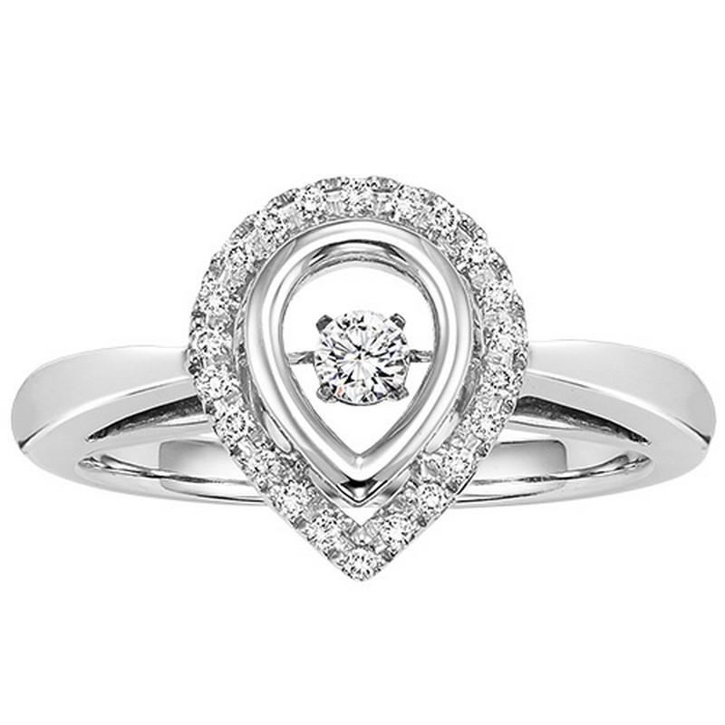 10K Diamond Rhythm Of Love Ring 1/5 ctw