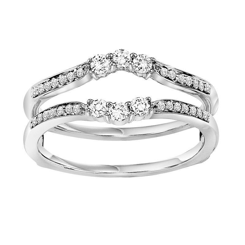 14K Diamond Insert Ring 1/3 ctw