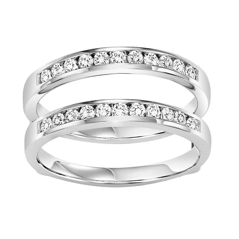 14K Diamond Insert Ring 1/2 ctw