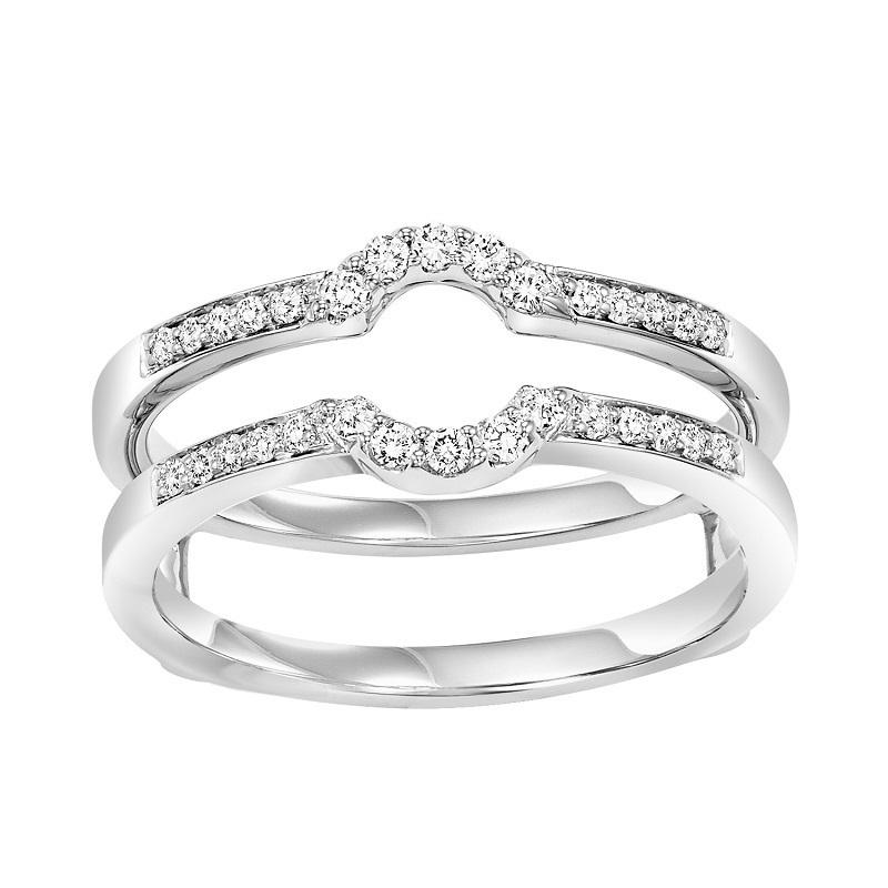 14K Diamond Insert Ring 1/4 ctw