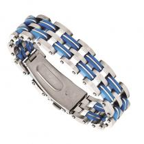 Steel & Blues Resin Bracelet