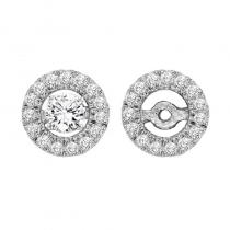 14K Diamond Earrings Round Jacket 1/3 ctw (for 2 ctw Studs)