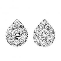 14K Diamond Earrings 1/4 ctw Pear Shape