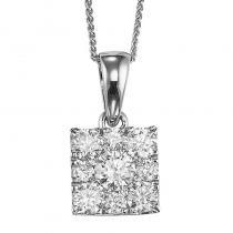 14K Diamond Pendant 1/2 ctw