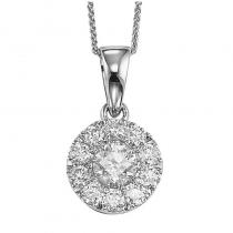 14K Diamond Pendant 1 ctw