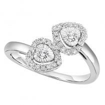 Silver Diamond Ring 1/4 ctw