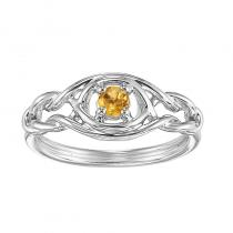 Silver Citrine Ring (Available In all BirthStones)