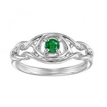 Silver Emerald Ring (Available In all BirthStones)