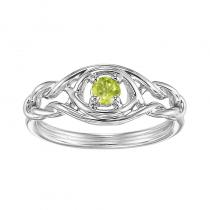 Silver Peridot Ring (Available In all BirthStones)