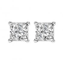 14K P/Cut Diamond Studs 1 1/5 ctw P2
