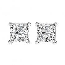 14K P/Cut Diamond Studs 1 1/5 ctw P1