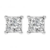 14K P/Cut Diamond Studs 2 ctw P1