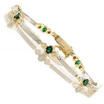 14K Emerald & Diamond Bracelet