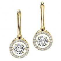 14K Diamond Rhythm Of Love Earrings 3/4 ctw