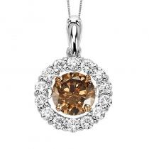 14K Brown Diamond Diamond Rhythm Of Love Pendant