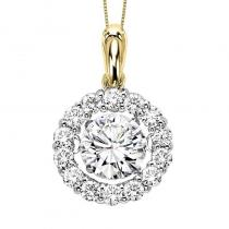 14KY Diamond Rhythm Of Love Pendant 1/2 ctw