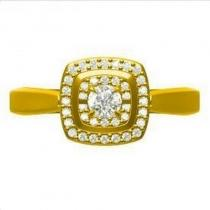 14K Diamond Rhythm Of Love Ring 1/4 ctw