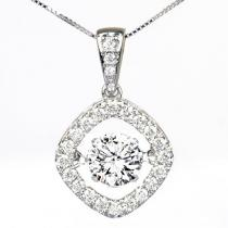 14K Diamond Rhythm Of Love Pendant 1 ctw