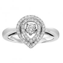 10K Diamond Rhythm Of Love Ring 1/3 ctw