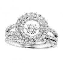 14K Diamond Rhythm Of Love Ring 1 ctw