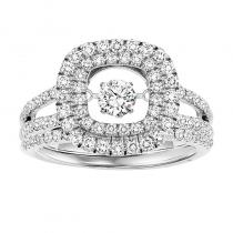 14K Diamond Rhythm Of Love Ring 1 ctw