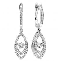 14K Diamond Rhythm Of Love Earrings 1/2 ctw