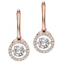 14K Diamond Rhythm Of Love Earrings 2 1/2 ctw