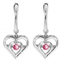 Silver Pink Tourmaline Rhythm Of Love Earrings