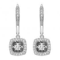 14K Diamond Rhythm Of Love Earrings 1/5 ctw