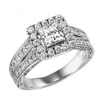 14K Diamond Engagement Ring 1 ctw