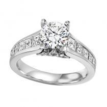14K Diamond Engagement Ring 1 1/2 ctw With 1 ct Center Diamond