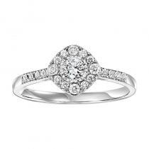 14K Diamond Engagement Ring 3/8 ctw Complete