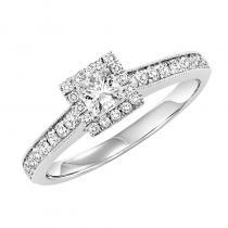 14K Diamond Engagement Ring 5/8 ctw