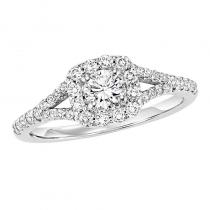 14K Diamond Enagement Ring 3/8 ctw With 1/3 ct Center Diamond