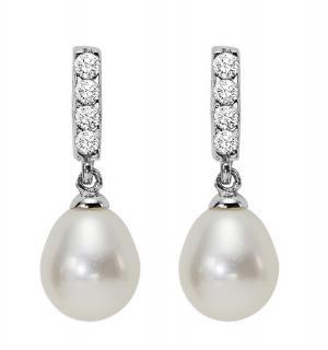 Silver Fresh Water Pearls Earrings