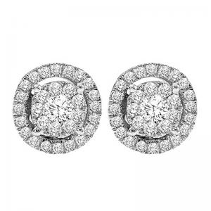 14K Diamond Earrings 1/2 ctw