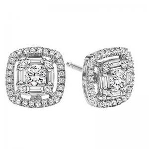 14K Diamond Earrings 3/4 ctw