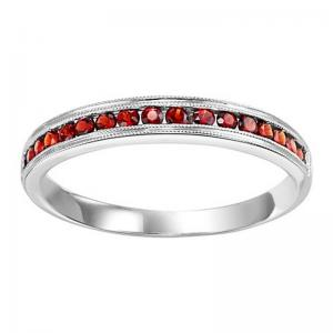 14K Garnet Mixable Ring