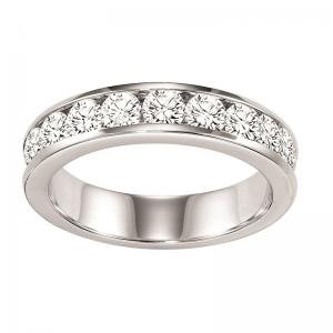 14K Diamond Channel Set Band 1 ctw