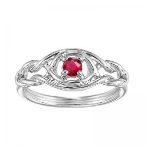 Silver Ruby Ring (Available In all BirthStones)